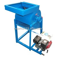 Wear resistant corn pelling and threshing machine