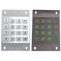 Backlight Industrial Metal Numeric Keypad (X-KN16B)