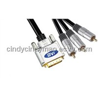 dvi to 3rca cable