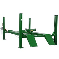four post car lift with wheel aligner
