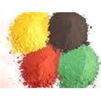 iron oxide yellow .brown, blue ,green,red