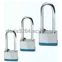 Laminated Padlock with Long Shackle