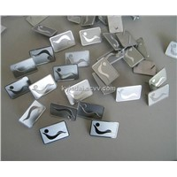 metal label, metal tag, adhesive embossed label