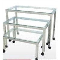 Three Nested Table with Glass