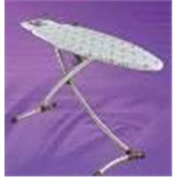 ironing board with chrome legs