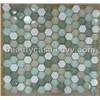 Hexagon Glass Mosaic Tile Mix Marble