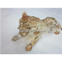 Crystal Sculpture Craft for Golden Tiger