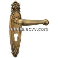 satain nichel door handle and locks(ZL9994 AD)