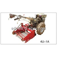 Mini Potato Digger Walking Tractor with Potato Harvester 4U -600A