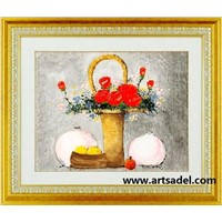 100% Handmade Still life Oil Painting on Canvas