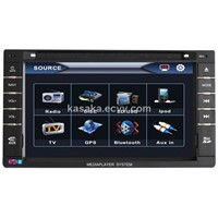 "6.2""Two Din Touch Screen With DVD/USB/SD/BT/AM/FM"