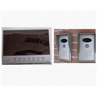 7'' Touch-Button Photo & Video Memory Door Phone -- Supporting 2 Outdoors