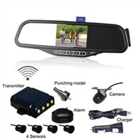 ALD100C--Bluetooth Mirror with 3.5' Wireless Back-up Camera and Parking Sensor