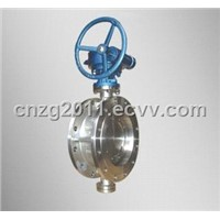 Double Eccentric, PTFE Seat, Flange or Wafer Ends Butterfly Valve