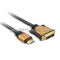 Gold Plated HDMI to DVI  18+1 Cable