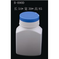 90cc White HDPE Vitamin Bottle with Flip Top Cap