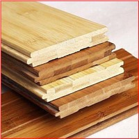 Horizontal carbonized bamboo flooring