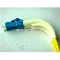 LC PC Duplex Fiber Optic Patch Cord With 90 Degree Boots