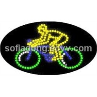 LED Bicycle sign