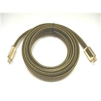 New HDMI cable with colorized nylon cloth,Full metal shell