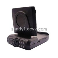 Night Vision HD Car DVR with 2.5 Inch LCD & Safe Driving Mirror