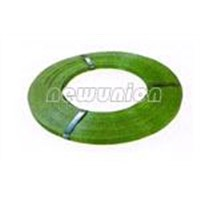 Paint backed steel packing strap