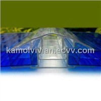 Polycarbonate Sheet with 4 to 6mm Thickness and 10 Years Warranty