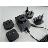 Power Adapter with Replaceable Plug 12W-15W