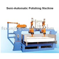 Semi-automatic polishing machine with 2 heads
