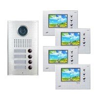 Three-Button Direct-Call Video Intercom with Name Plate