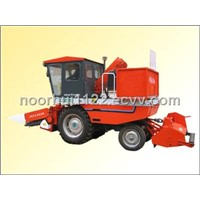 Tractor Mounted Corn Harvester