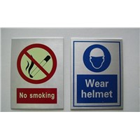 Beaten Aluminium Safety Signs