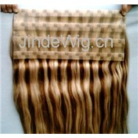 High Quality PU Skin Weft Hair Extension
