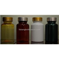 150cc Amber Plastic Medicine Bottle with Aluminum Lid