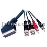 Scart to RCA Plugs