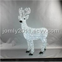 White LED Acrylic Big Reindeer