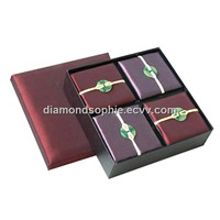 simple jewelry gift box with jade