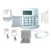 40 Defence Zones LCD Display Voiced Intelligent Burglar Alarm System