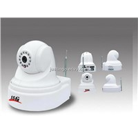 4 Channel PTZ IP CCD Camera with GSM Alarm, MMS and SD Card