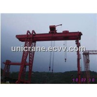 ME model double trolley Gantry Cranes for shipbuilding