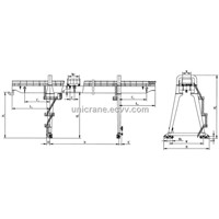 double girder A model gantry crane with hooks