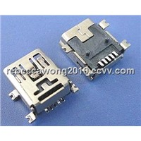 MINI USB FEMALE 5PINS JACK