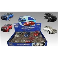 1;32 Pull Back Die Cast Metal Car With Music & Light / 12 pcs