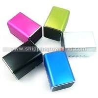 2011 Hottest Yarn Pattern Strong Bass Portable Mini Aluminum Shell Speakers With Sound Pure