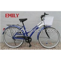 "26"" alloy rims with carrier 2011 city bike"