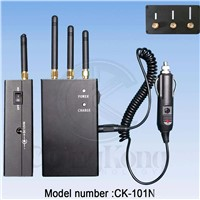 3 Bands High Power Portable Cell Phone 3G Signal Jammer (CK-101N)