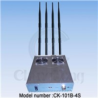 4 Bands High Power Cell Phone Signal Jammer - Wireless Remote Control (CK-101B-4S)