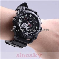 8GB 1080p Digital Waterproof Watch Camera With Night Vision Function
