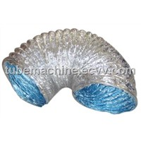 Aluminum Foil Wire Round Flexible Duct Machine,Aluminum Pipe Maker,Aluminum with Wire Support