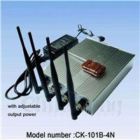 CK-101B-4N  cell phone 3G signal jammer with remote control turn on ,Out put power is adjustable
